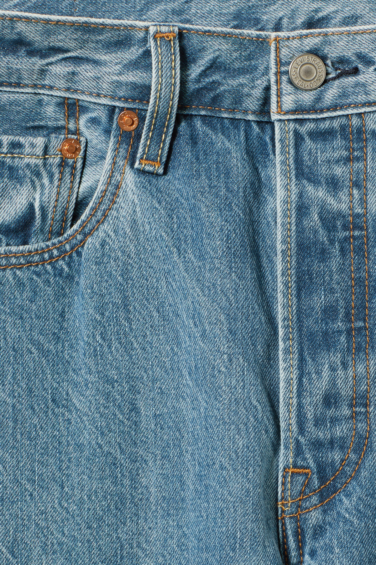 Detailed image of Weekday 501 skinny rolling dice jeans in blue
