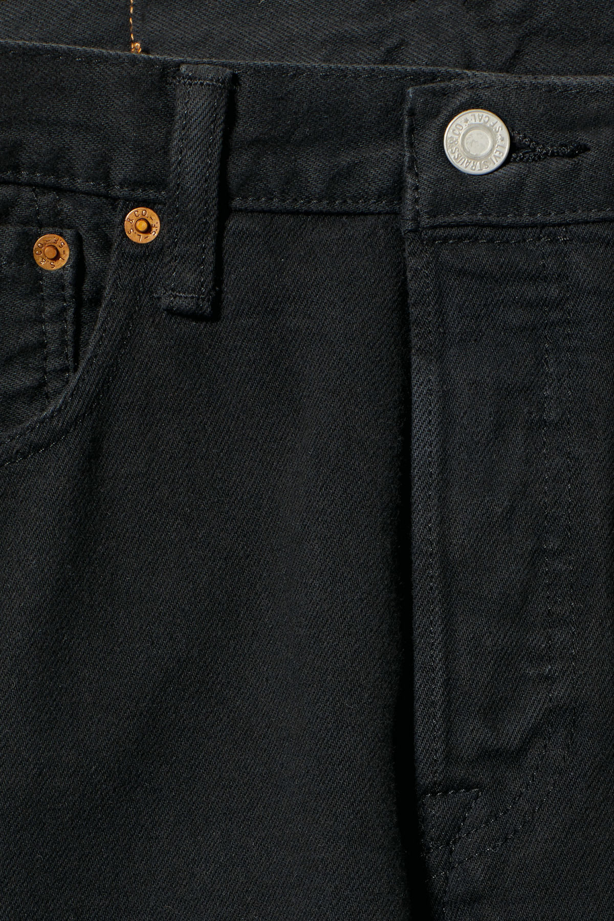 Detailed image of Weekday 501 original black jeans in black
