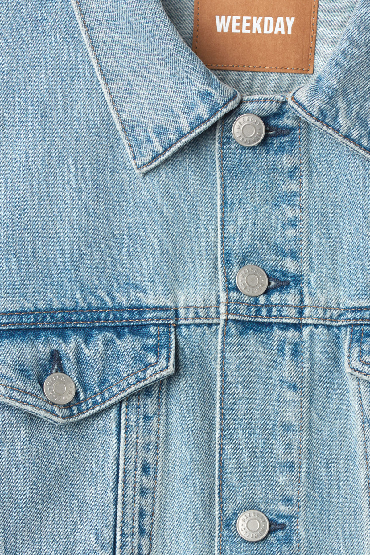 Detailed image of Weekday single jacket spring blue in blue