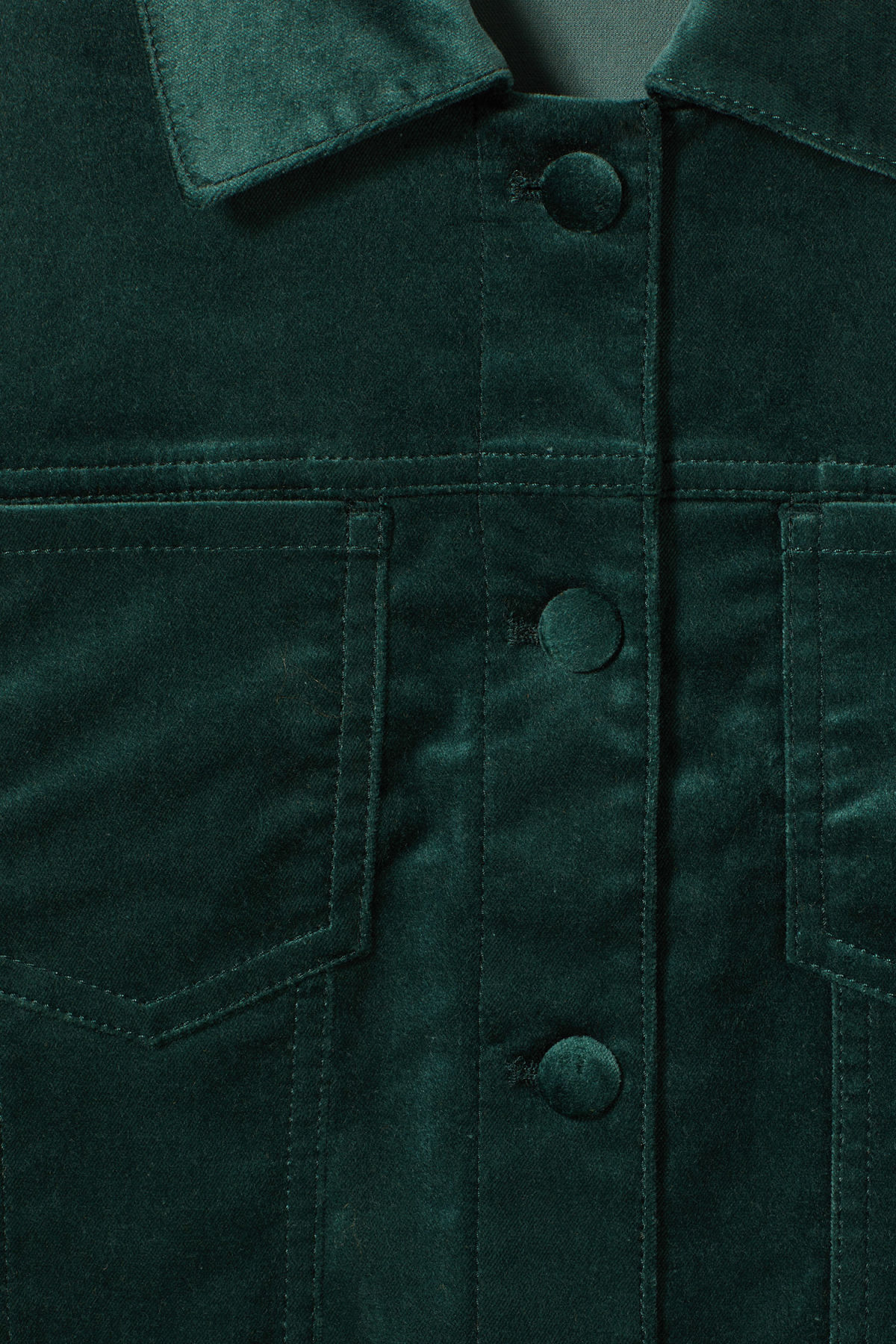 Detailed image of Weekday liza jacket in green