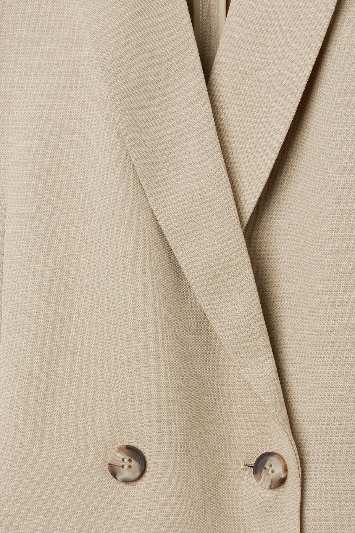 Detailed image of Weekday ink blazer in beige