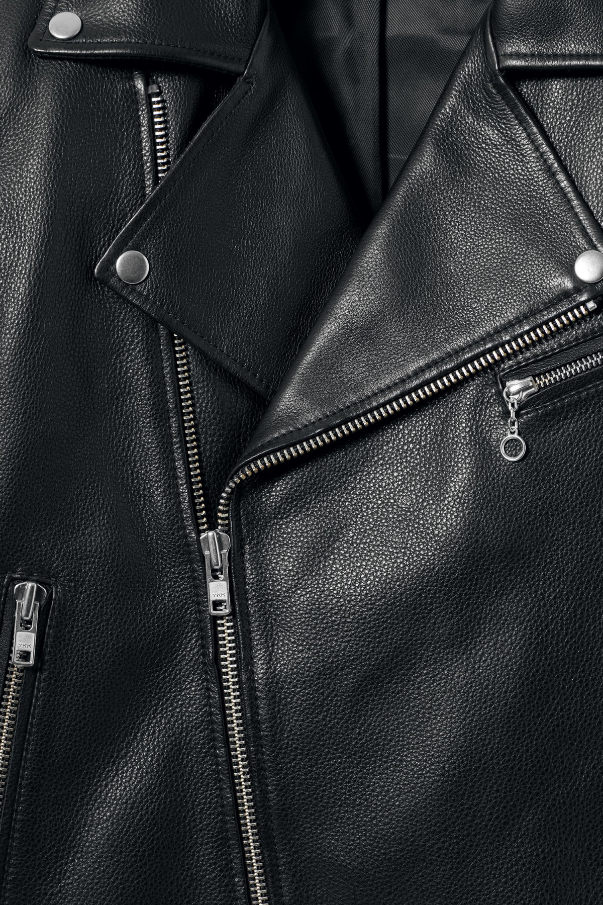 Detailed image of Weekday biker leather jacket in black
