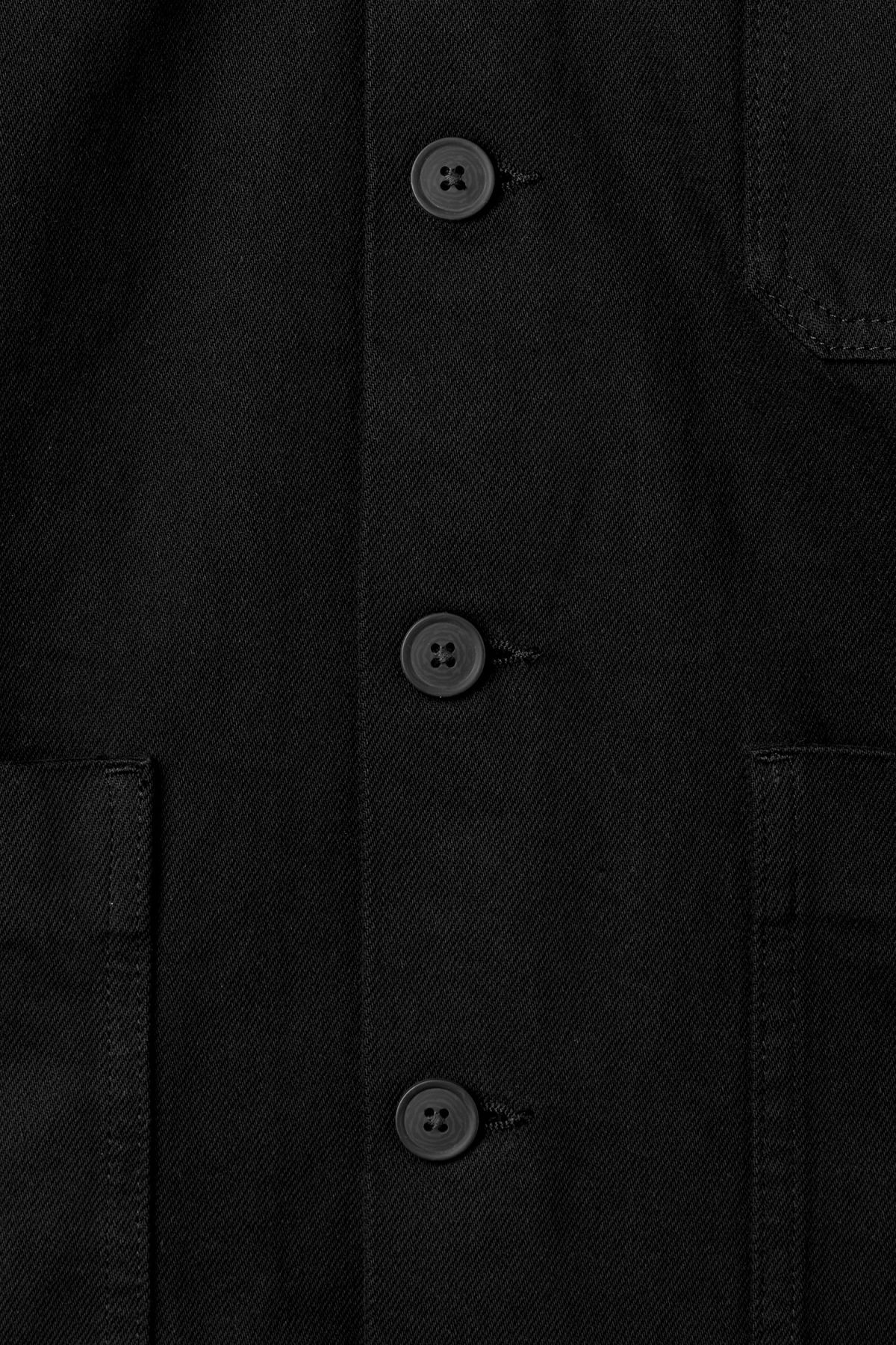 Detailed image of Weekday generic od black jacket  in black