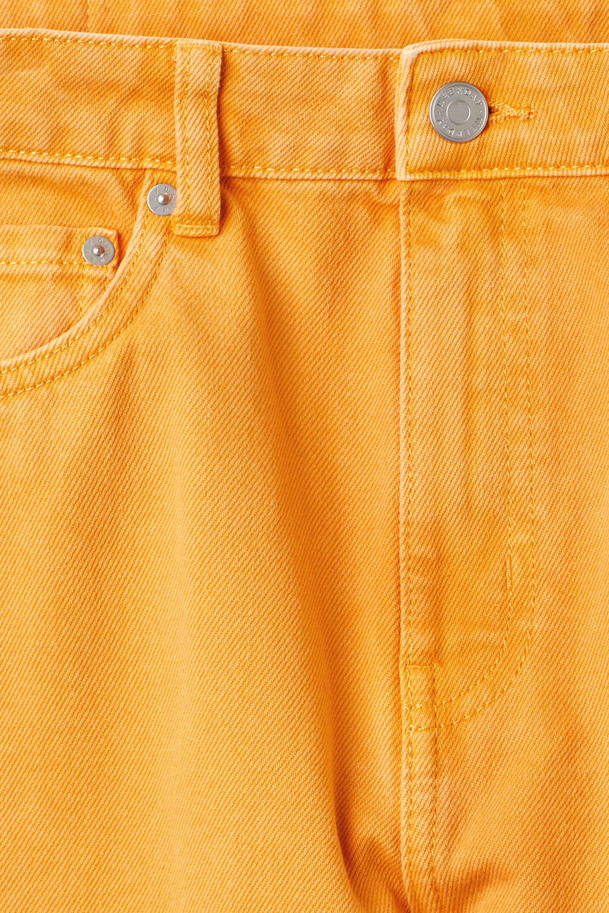 Detailed image of Weekday seattle yellow jeans in yellow