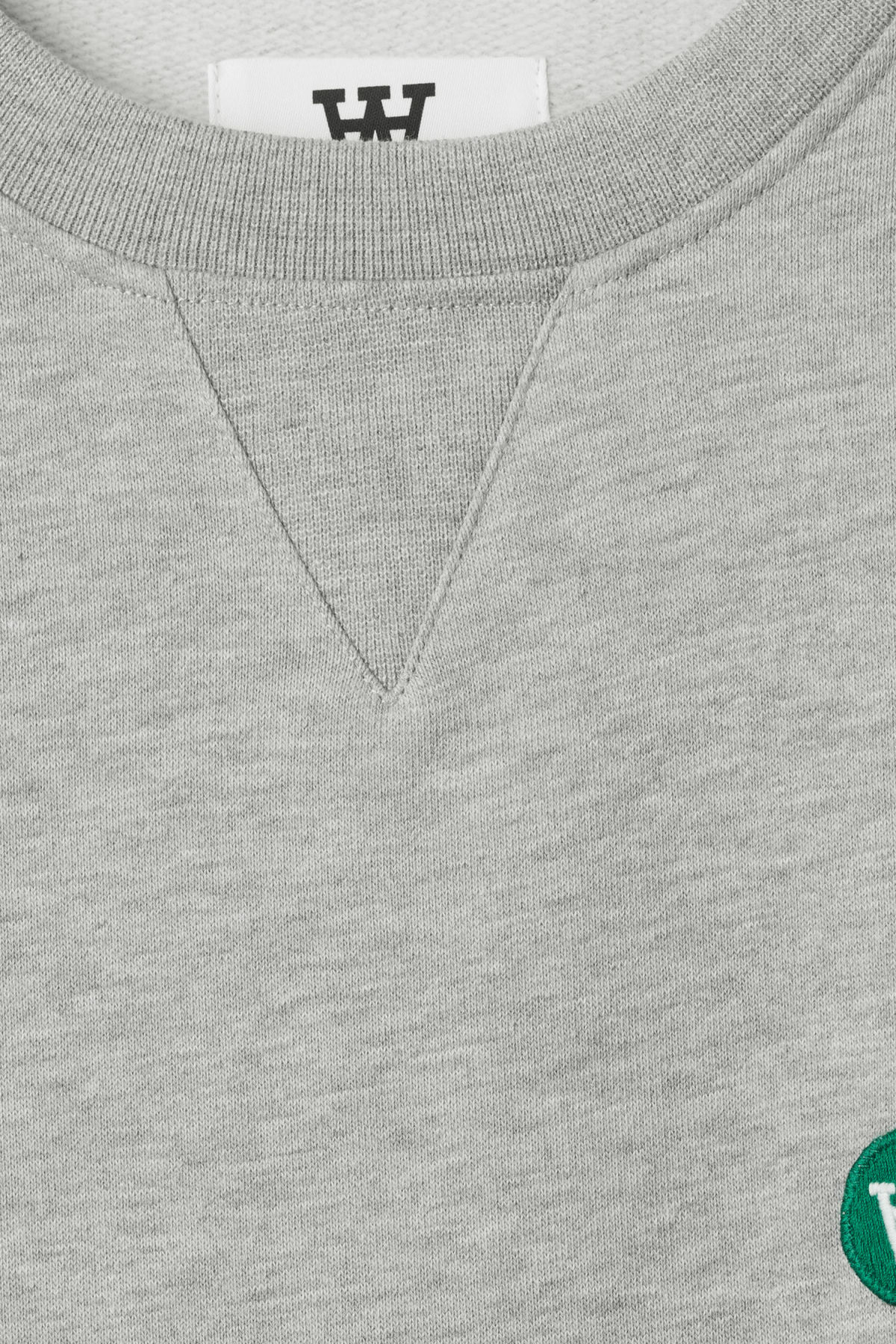 Detailed image of Weekday tye sweatshirt in grey