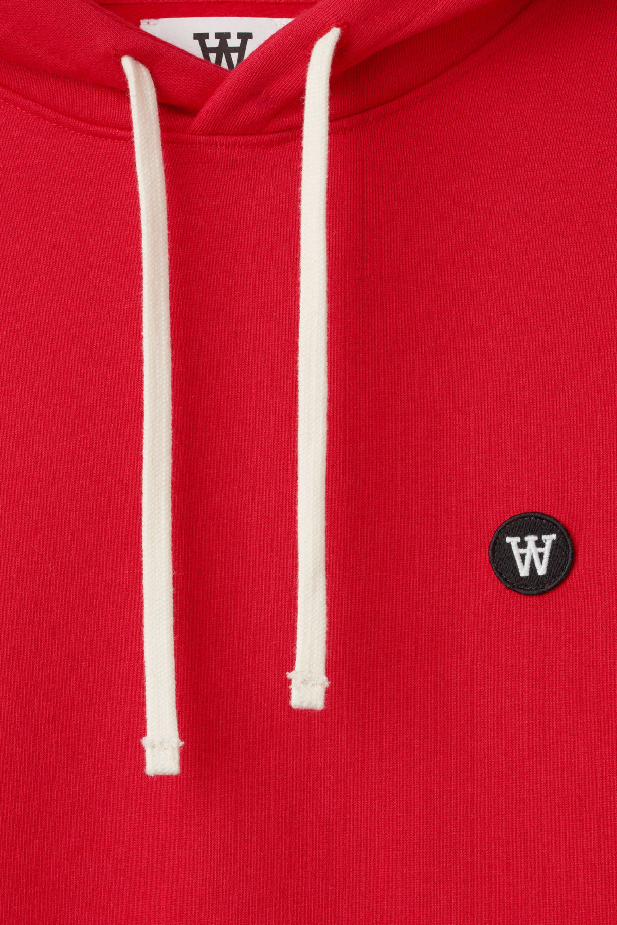 Detailed image of Weekday ian hoodie  in red