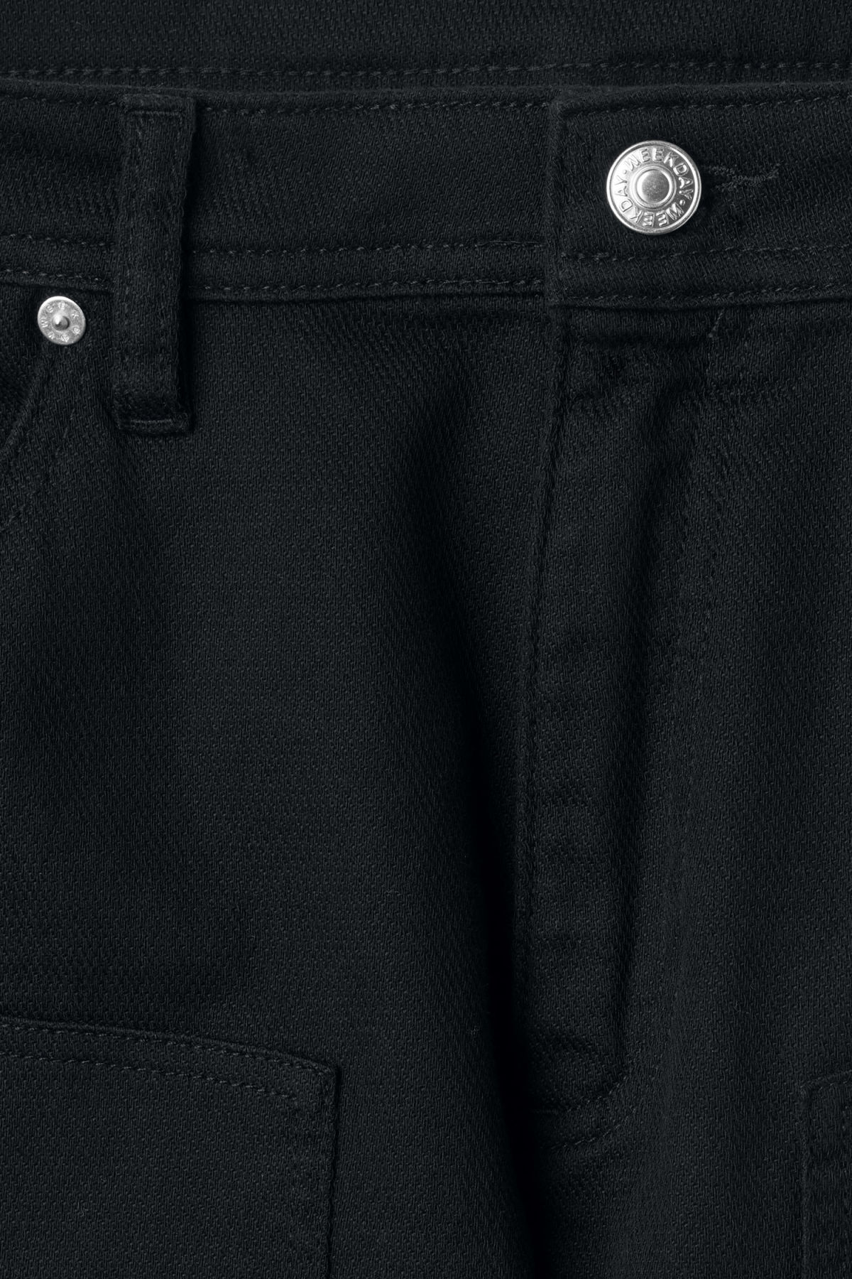 Detailed image of Weekday grime trousers in black