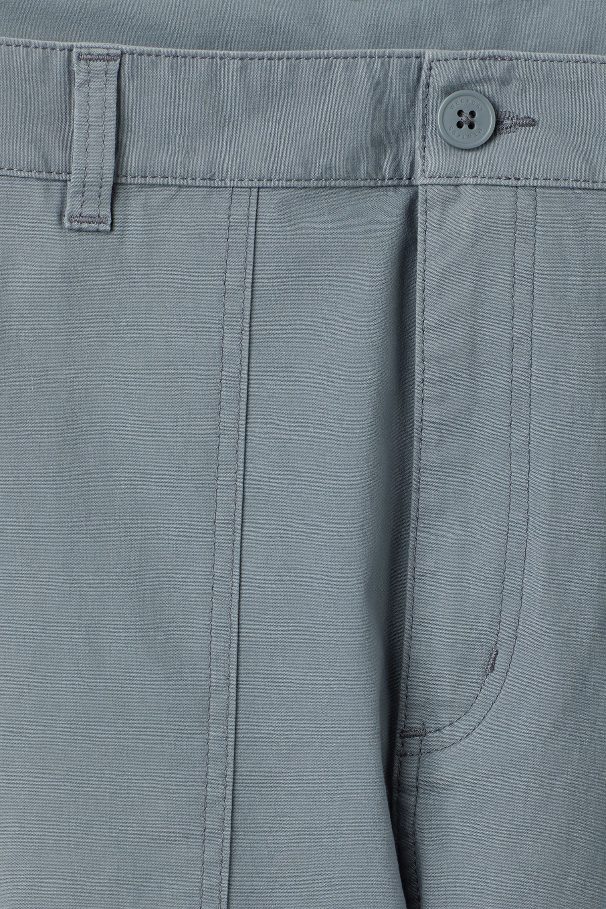 Detailed image of Weekday delft pocket trousers in turquoise