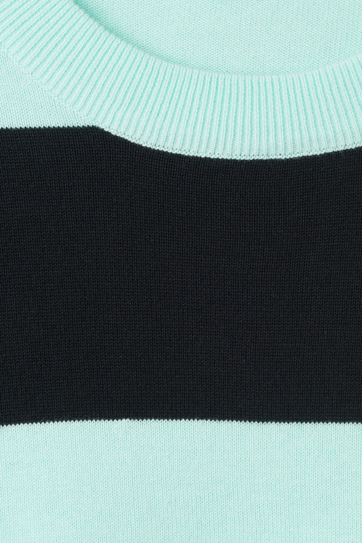 Detailed image of Weekday pyramid sweater in turquoise