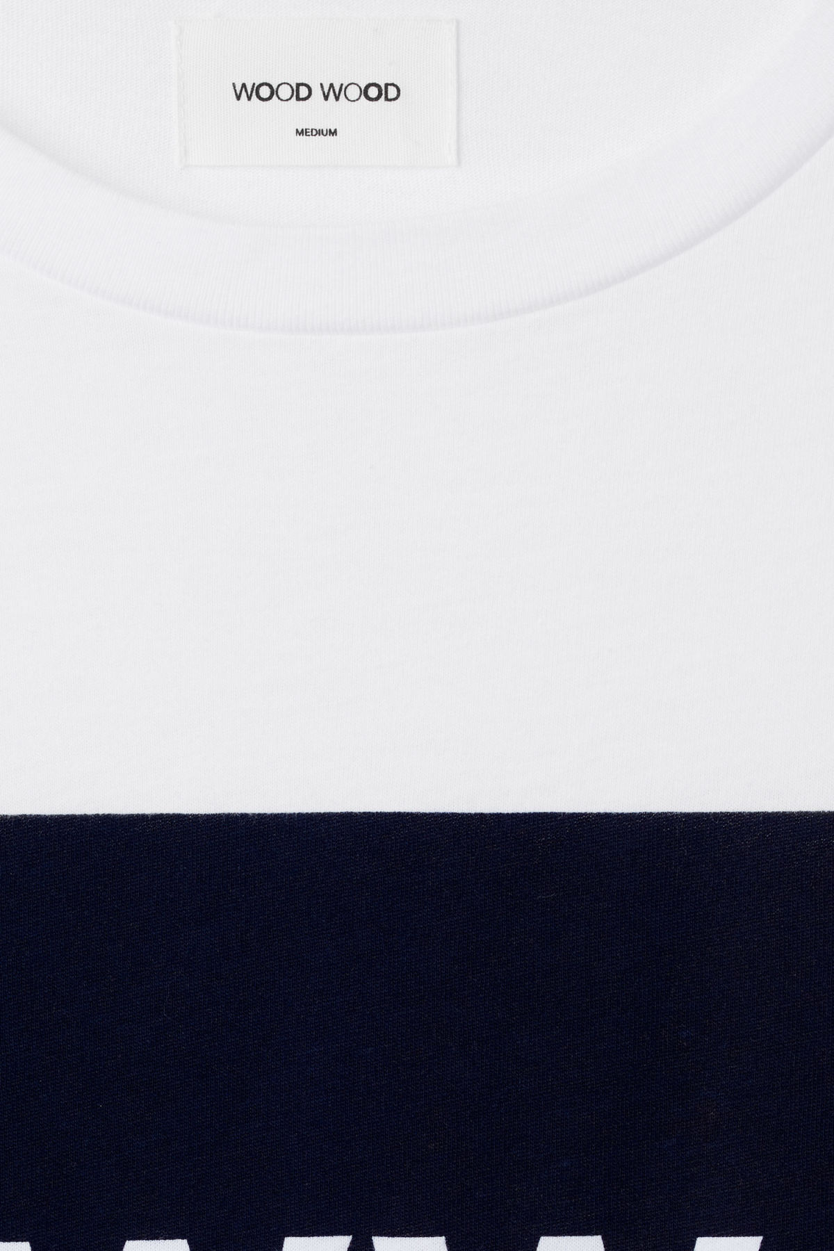 Detailed image of Weekday the square t-shirt in white