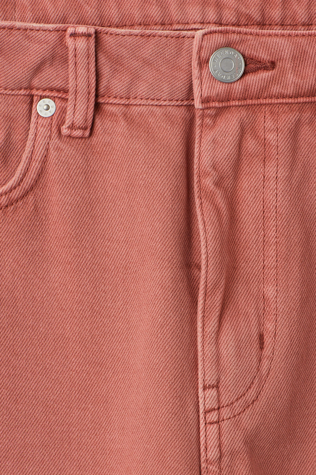 Detailed image of Weekday voyage rose jeans in orange