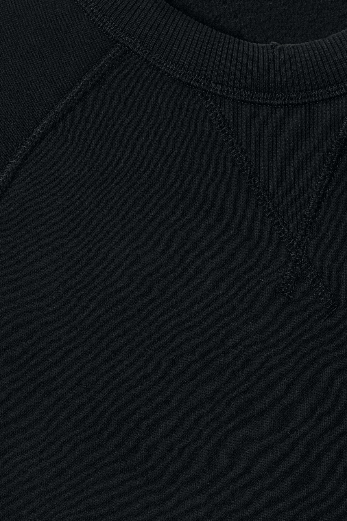 Detailed image of Weekday jaxon worn sweatshirt in black