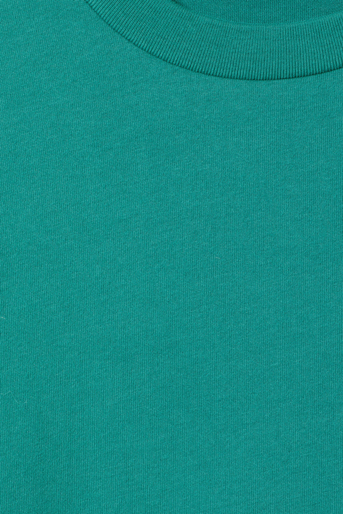 Detailed image of Weekday great t-shirt in turquoise