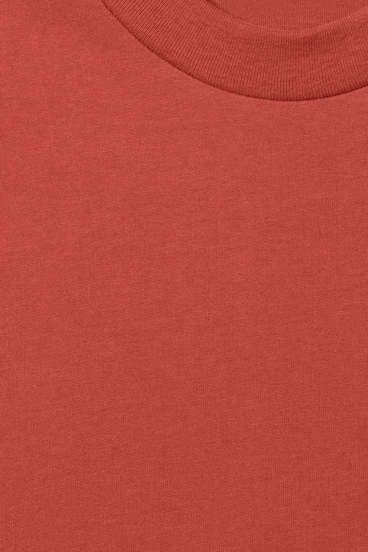 Detailed image of Weekday great t-shirt in red