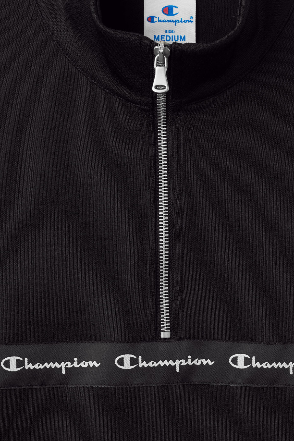 Detailed image of Weekday pull raised sweatshirt in black