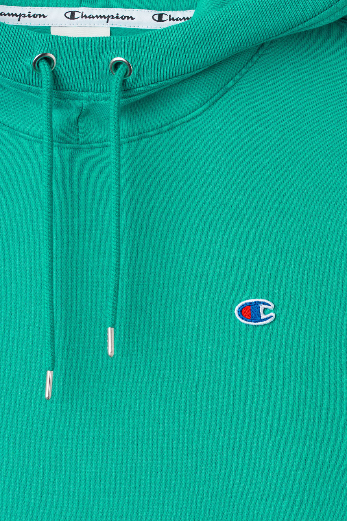 Detailed image of Weekday skate hoodie in green