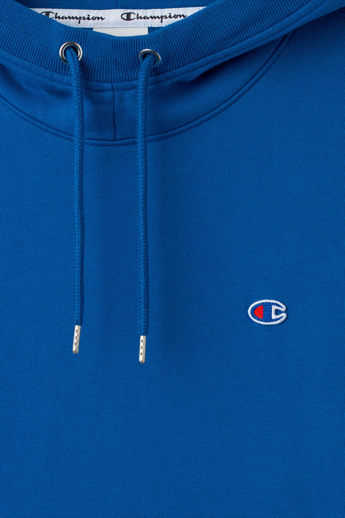 Detailed image of Weekday skate hoodie in blue