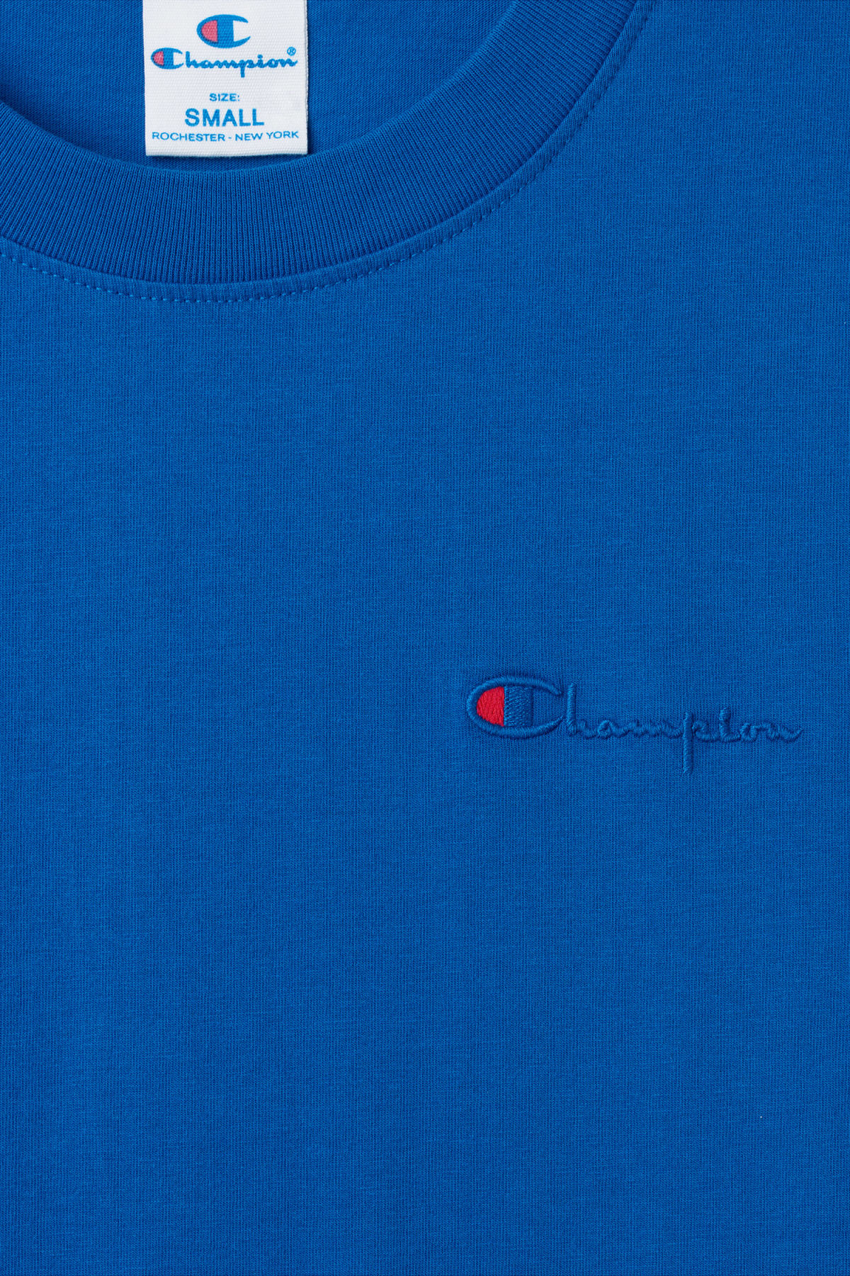 Detailed image of Weekday flex t-shirt in blue