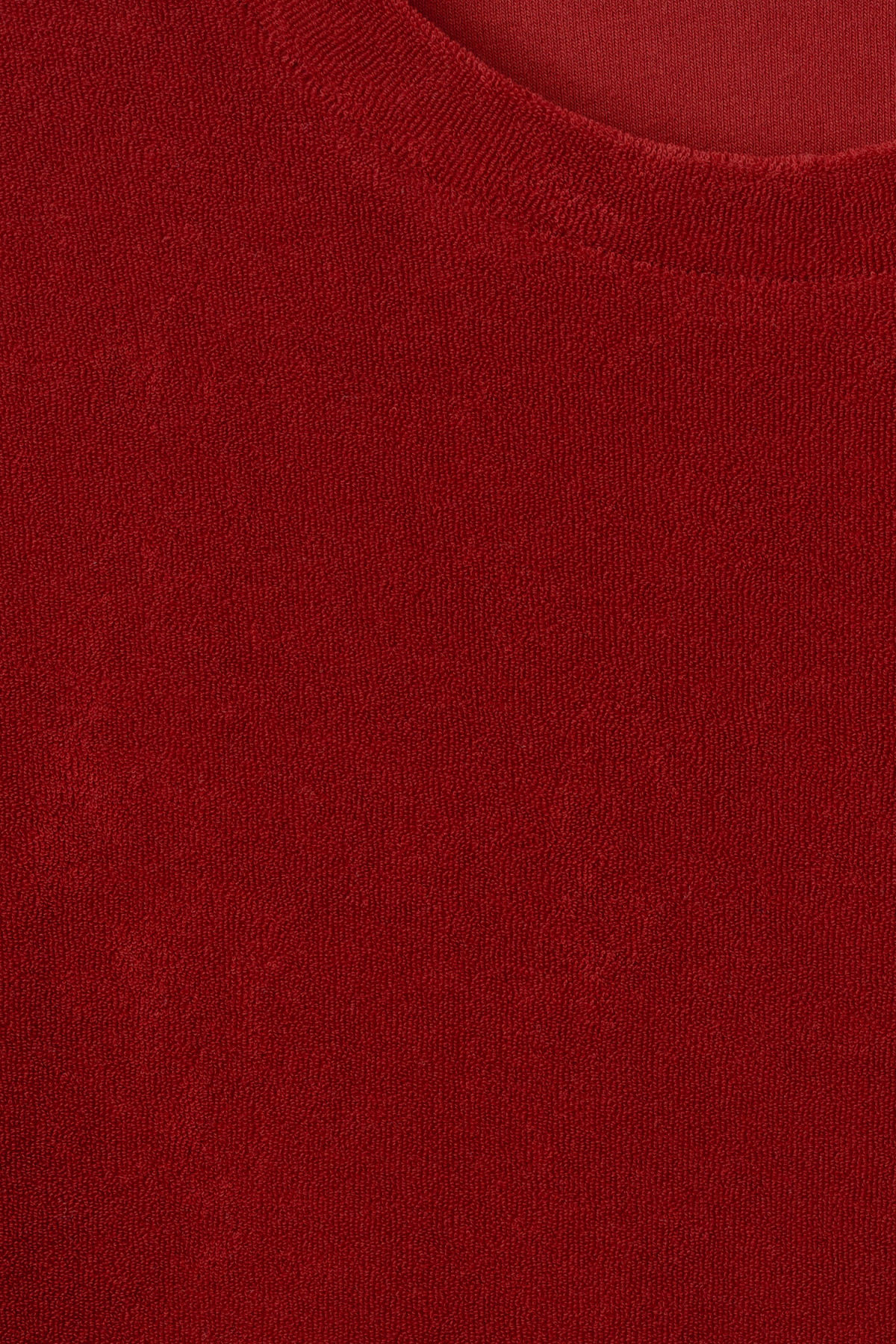 Detailed image of Weekday towel t-shirt in red