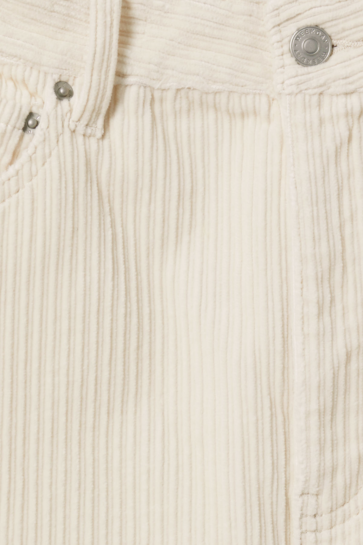 Detailed image of Weekday ace corduroy trousers in beige