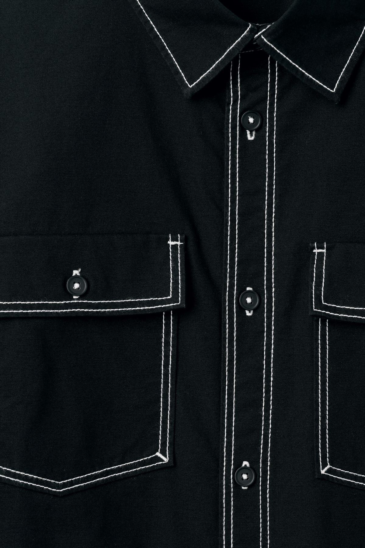 Detailed image of Weekday deft shirt in black