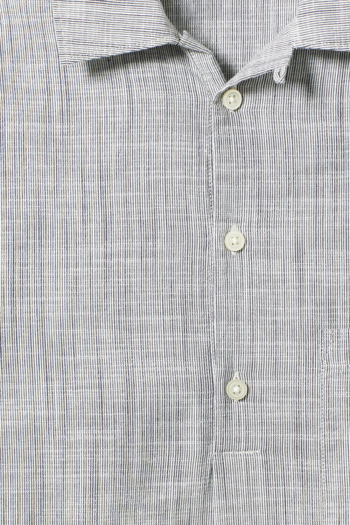 Detailed image of Weekday vito striped shirt in white