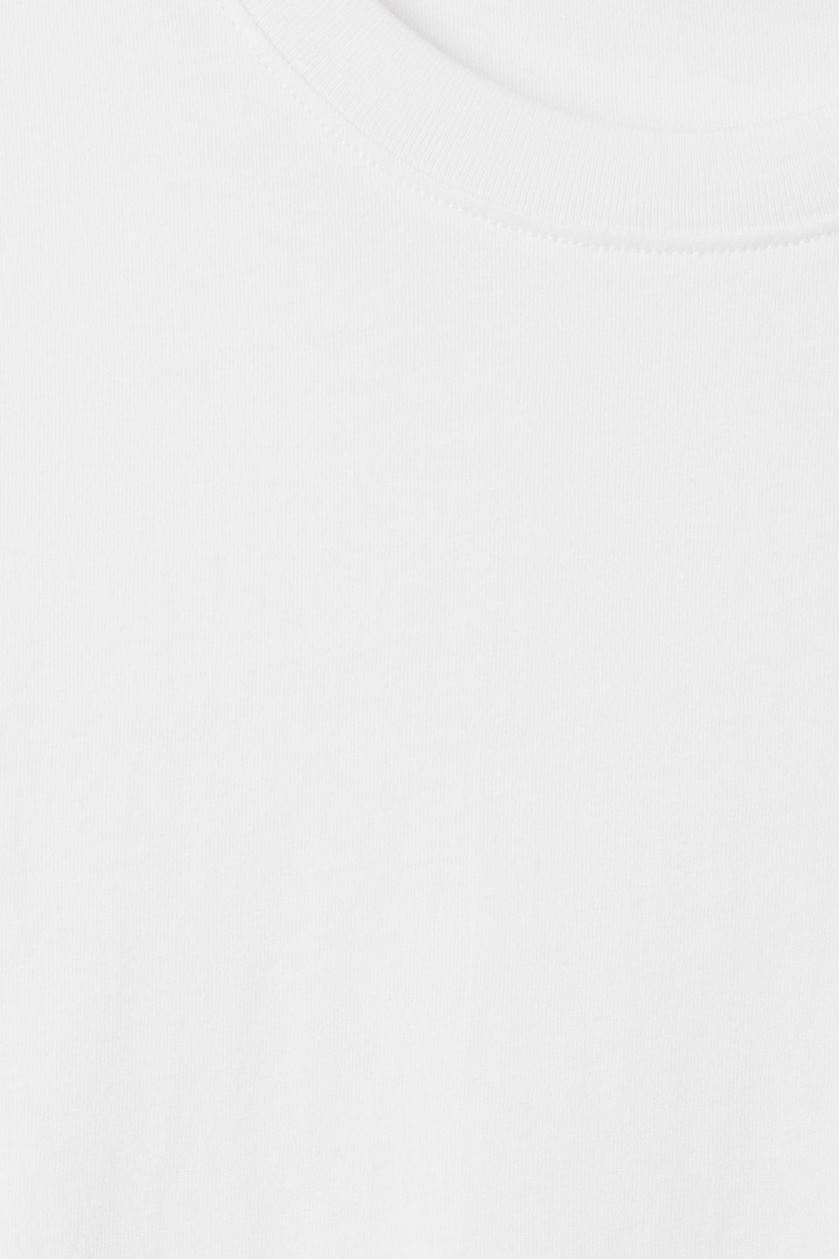 Detailed image of Weekday lille long t-shirts in white