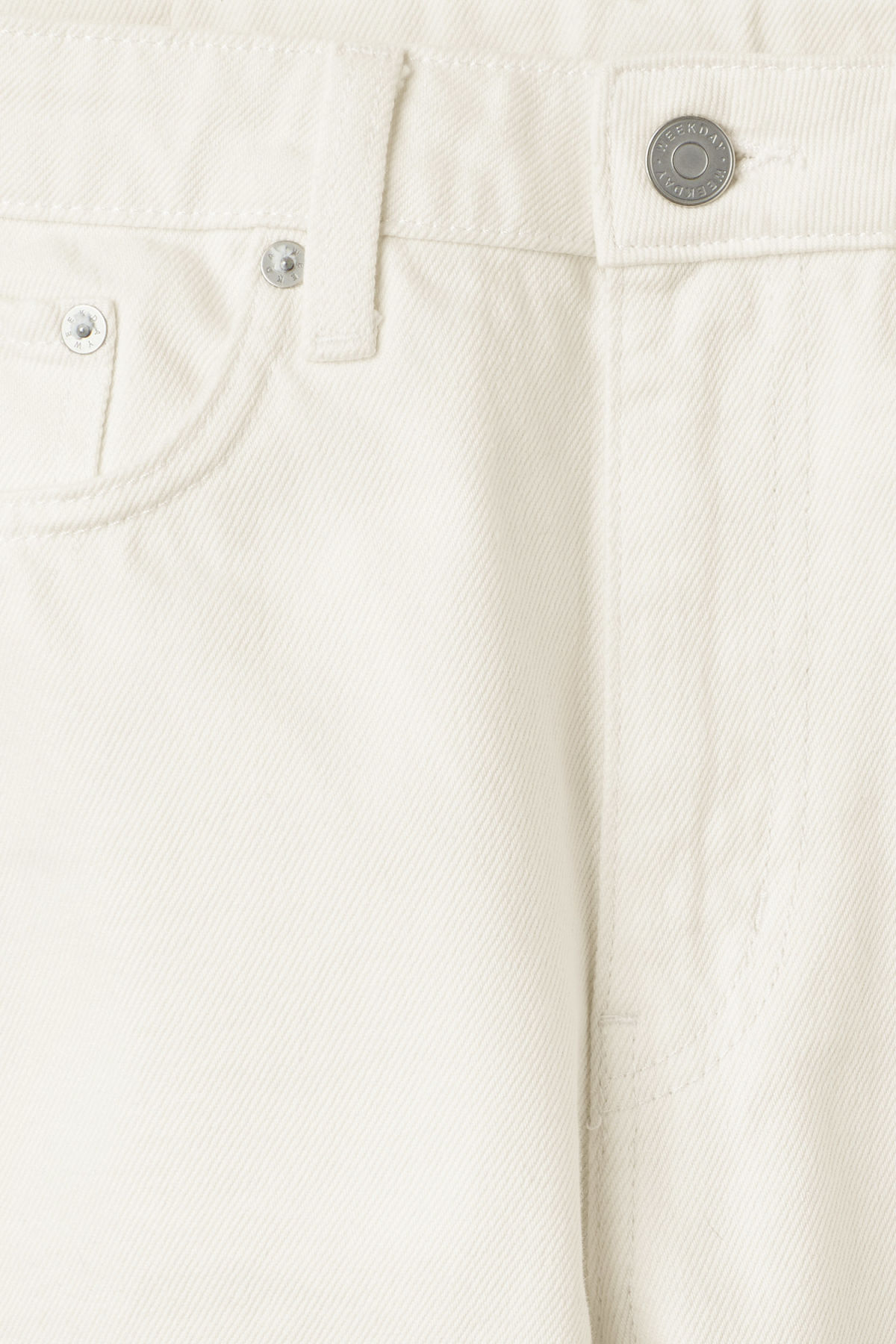 Detailed image of Weekday voyage 2-tone jeans in white