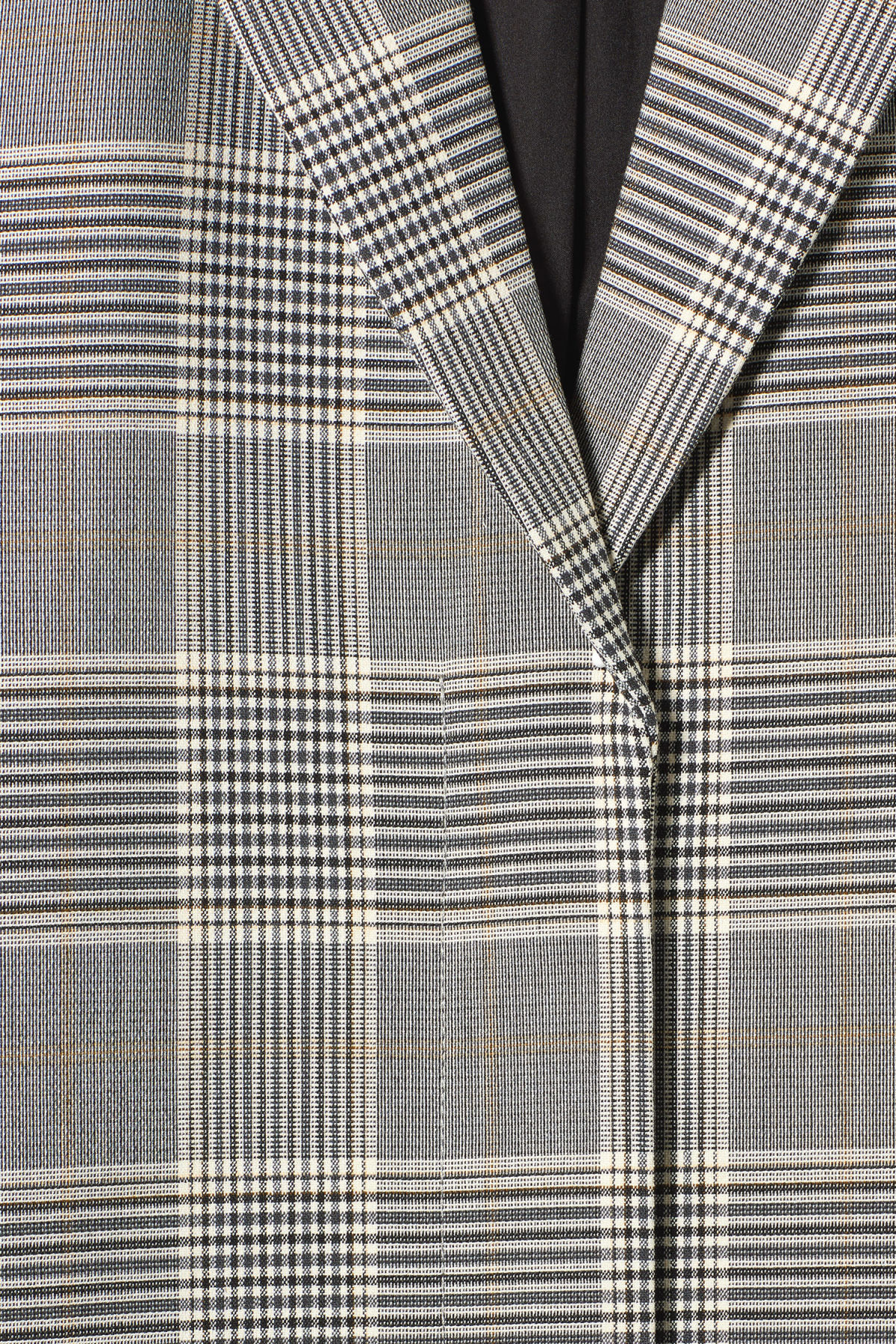 Detailed image of Weekday lond checked coat in beige