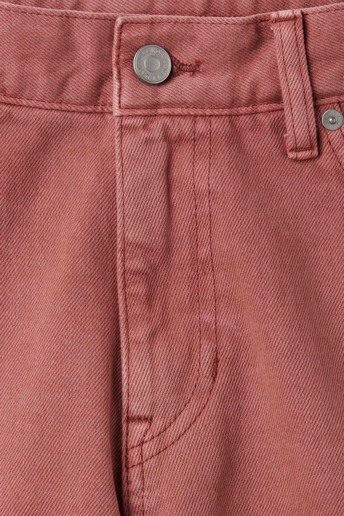 Detailed image of Weekday beach day rose shorts in orange
