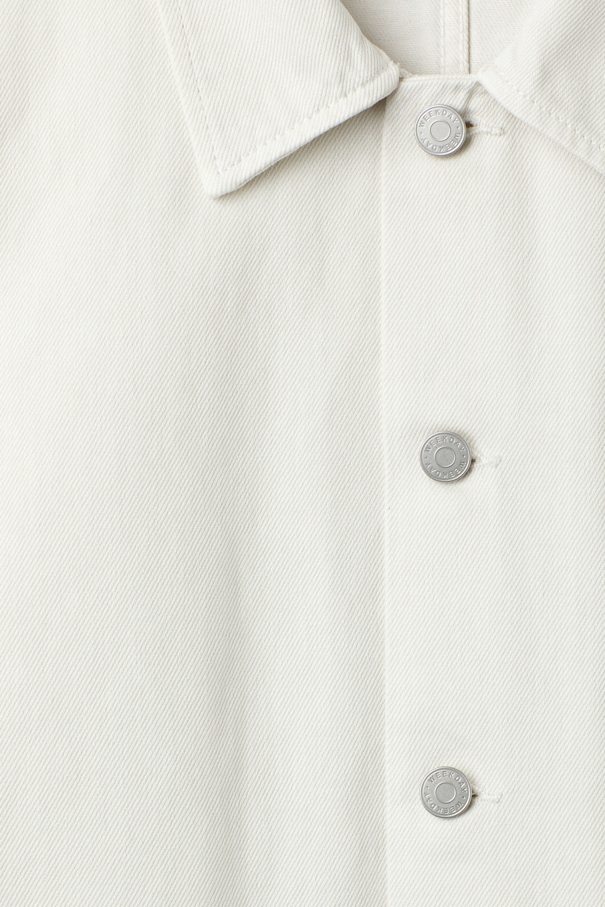 Detailed image of Weekday generic two-toned jacket in white