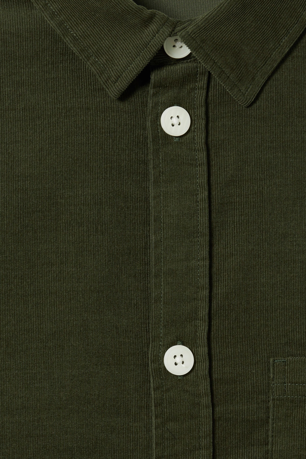 Detailed image of Weekday wise cord shirt in green