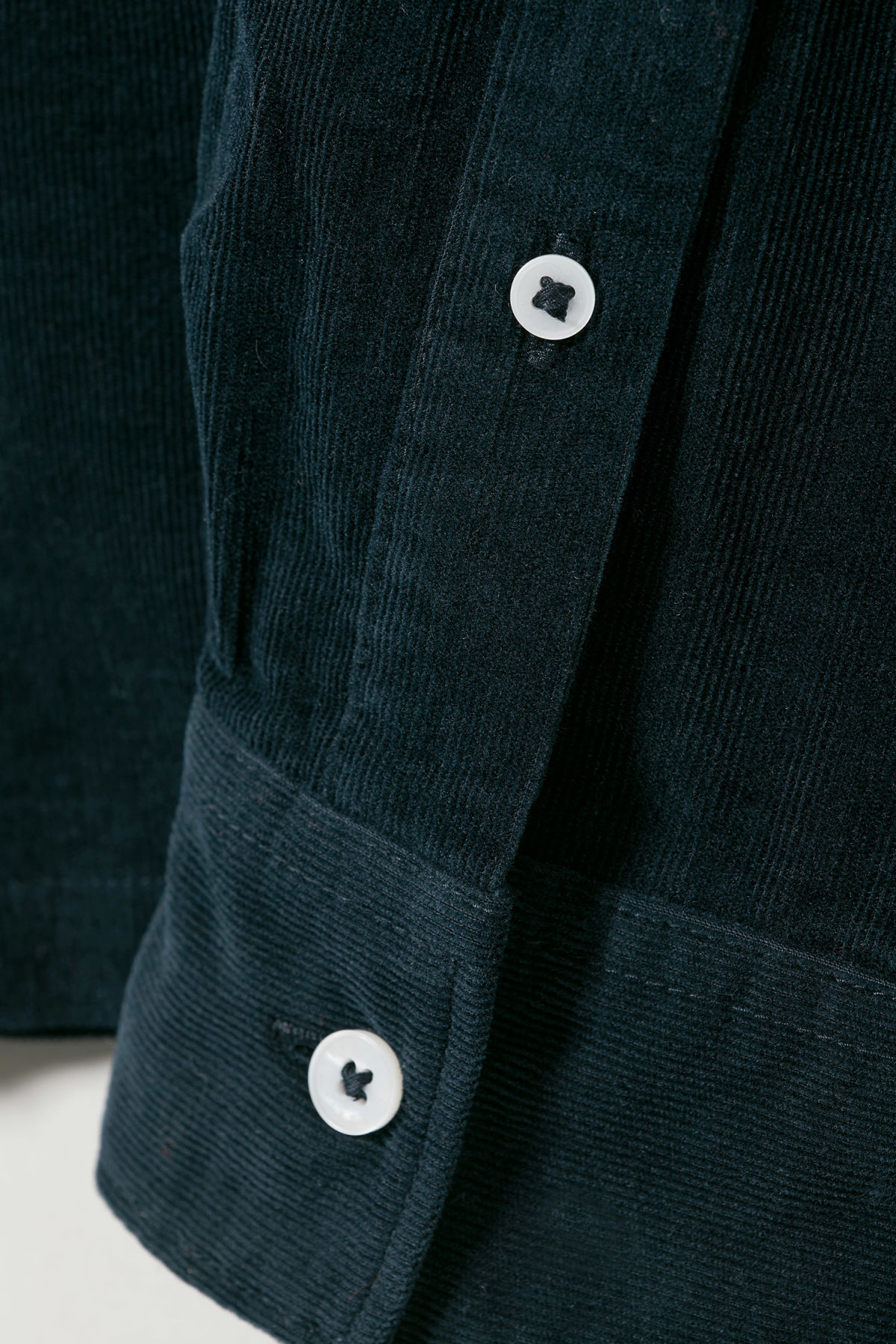 Detailed image of Weekday wise cord shirt in blue