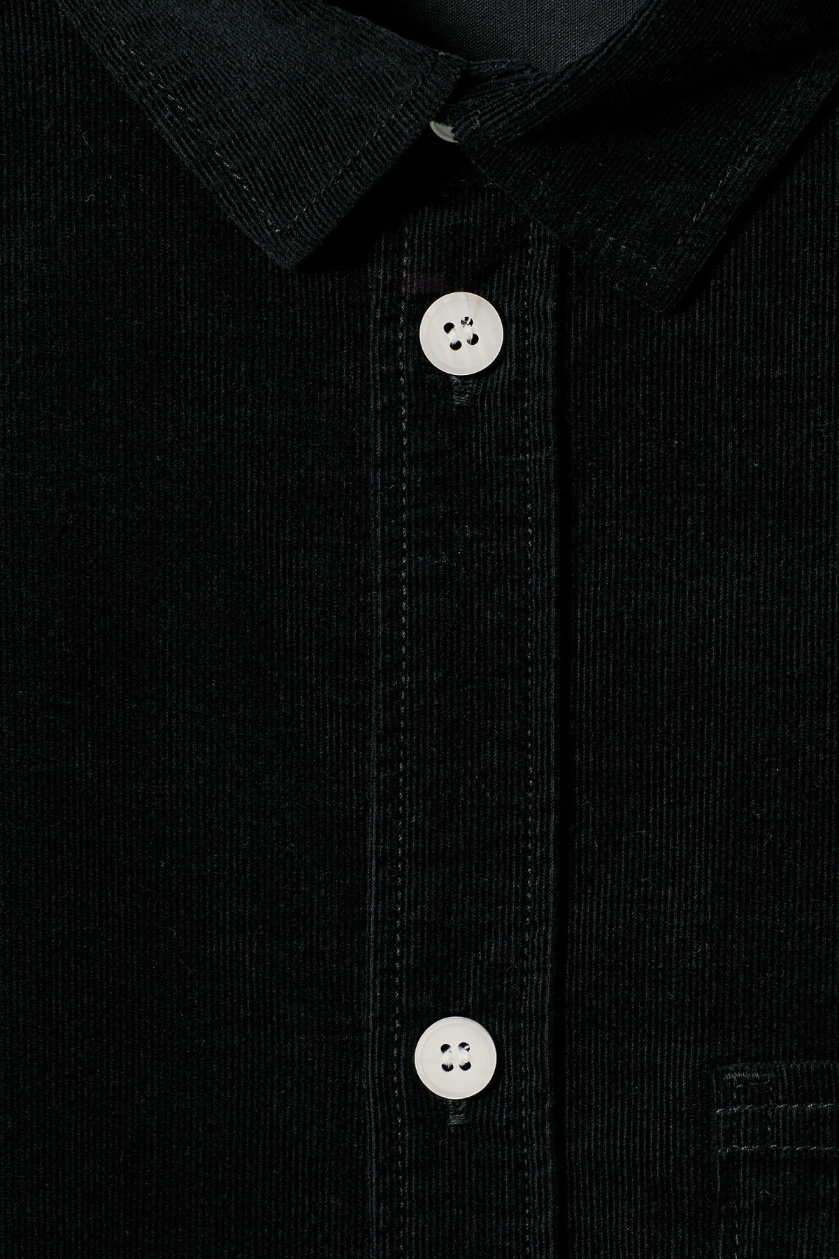 Detailed image of Weekday wise cord shirt in black