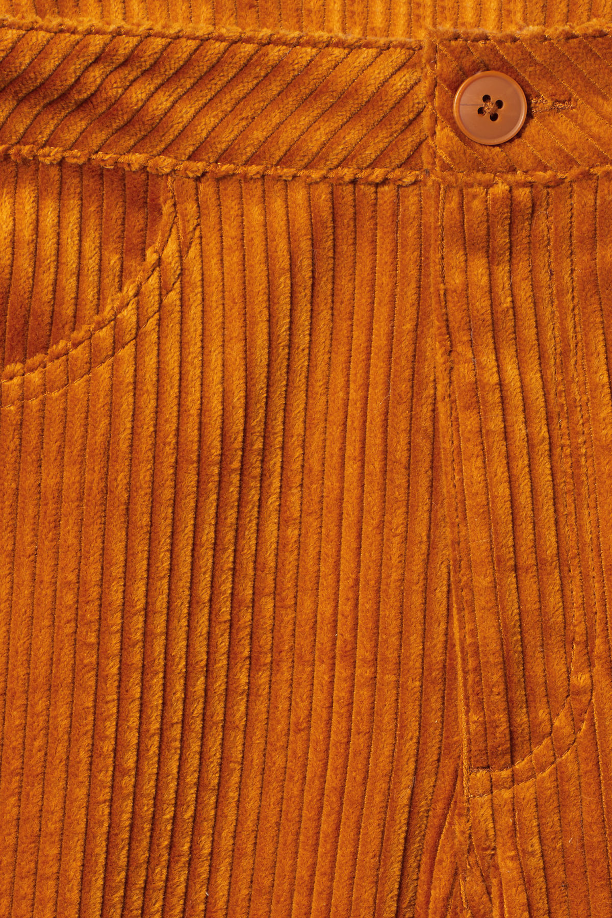 Detailed image of Weekday livia trousers in yellow