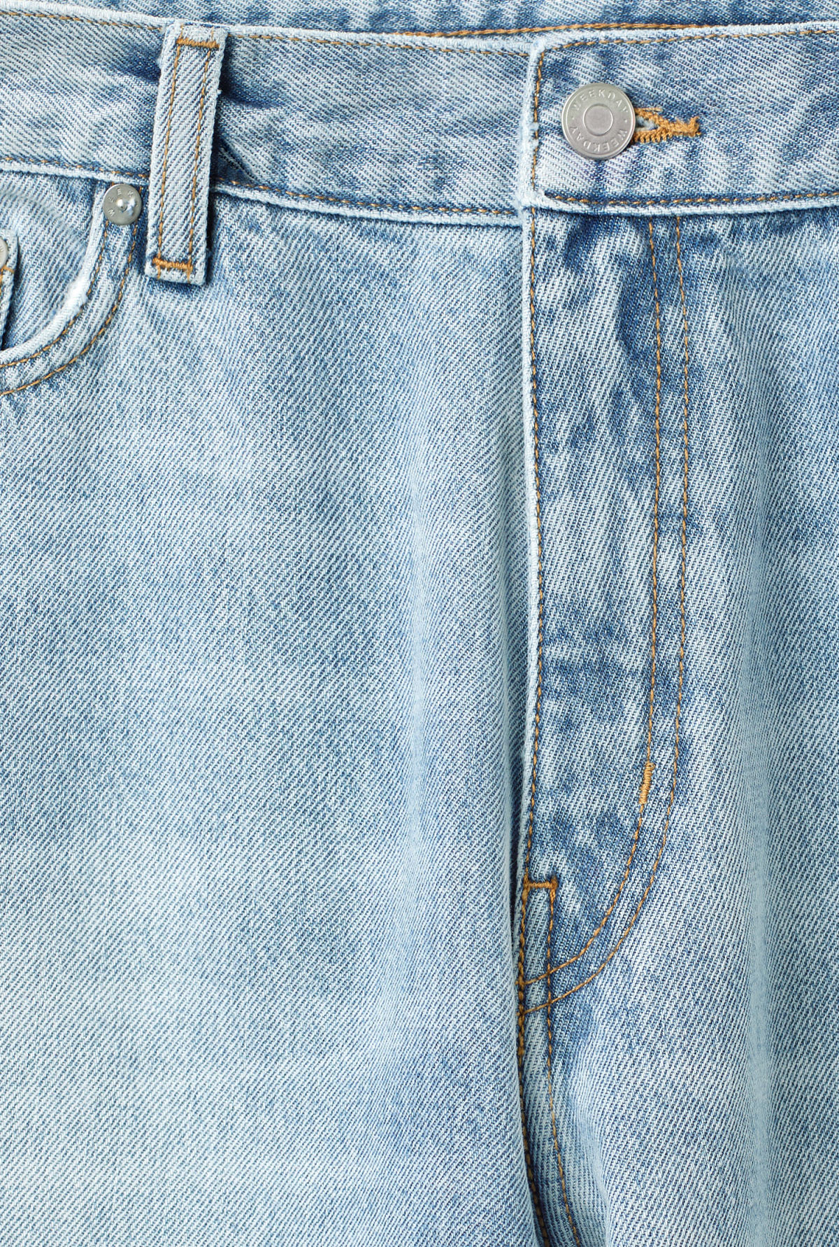 Detailed image of Weekday rail miami blue jeans in blue
