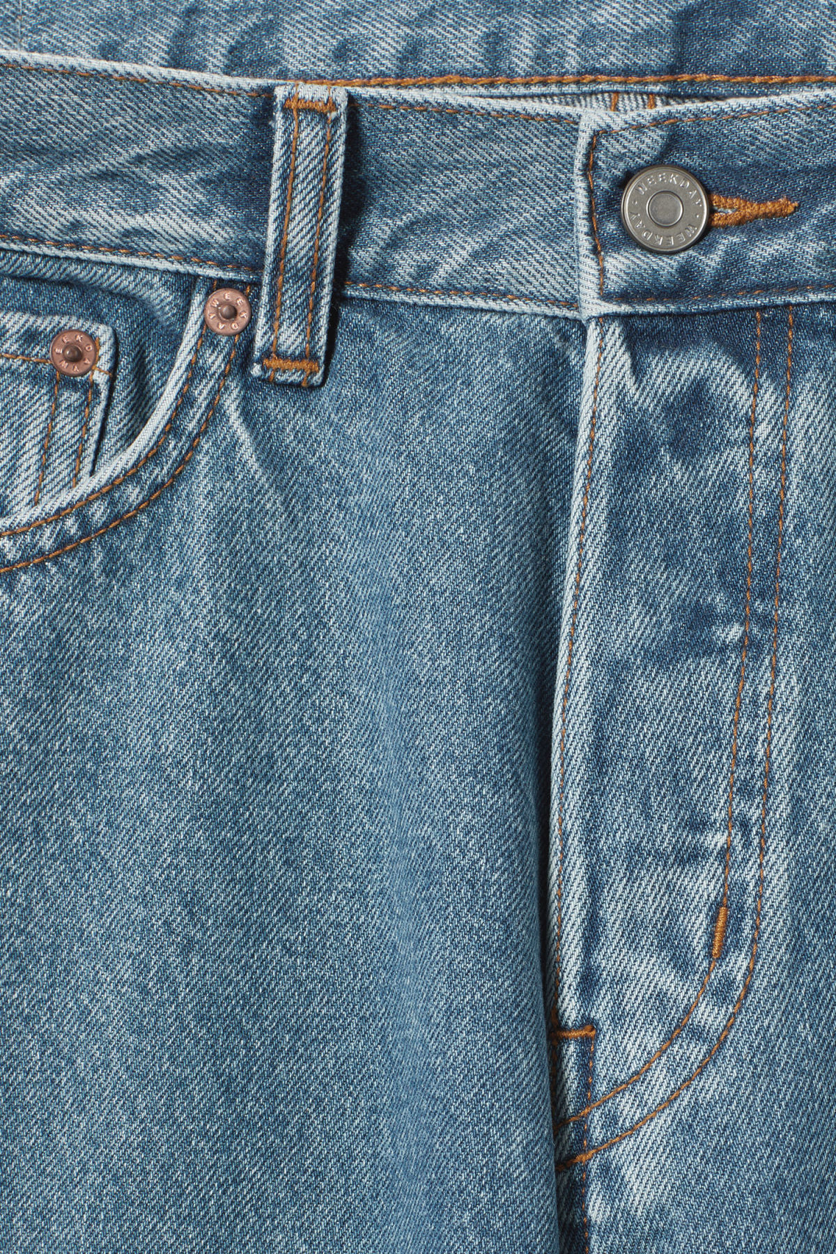 Detailed image of Weekday vacant arizon blue jeans in blue