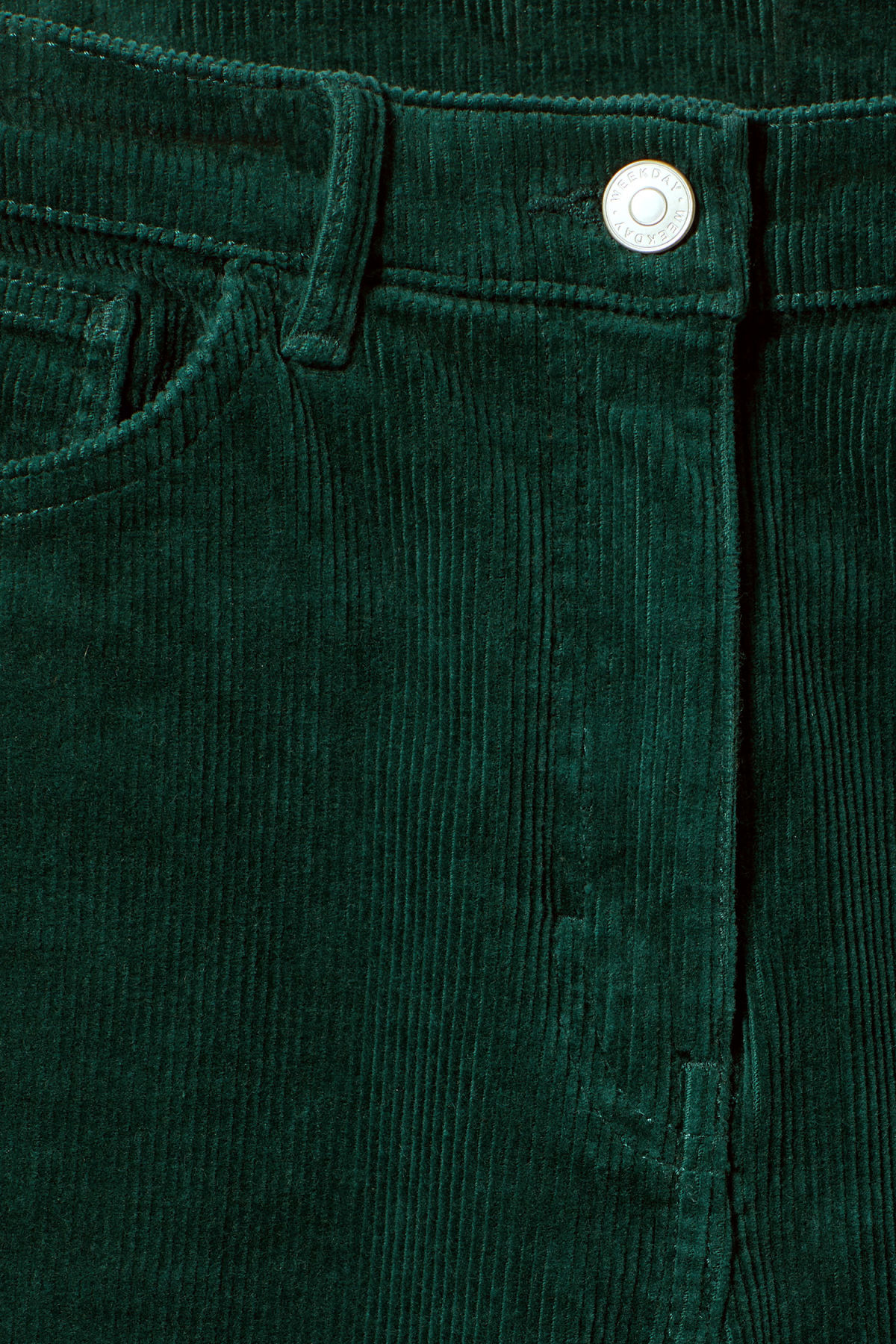 Detailed image of Weekday eve cord trousers in green