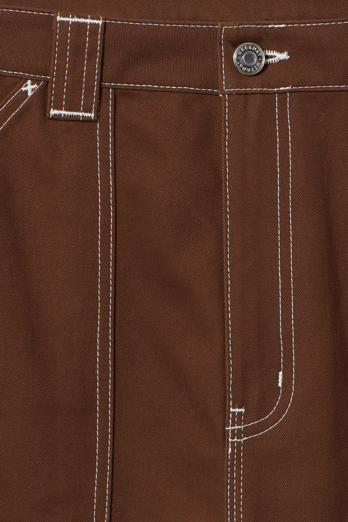 Detailed image of Weekday grow trousers in beige