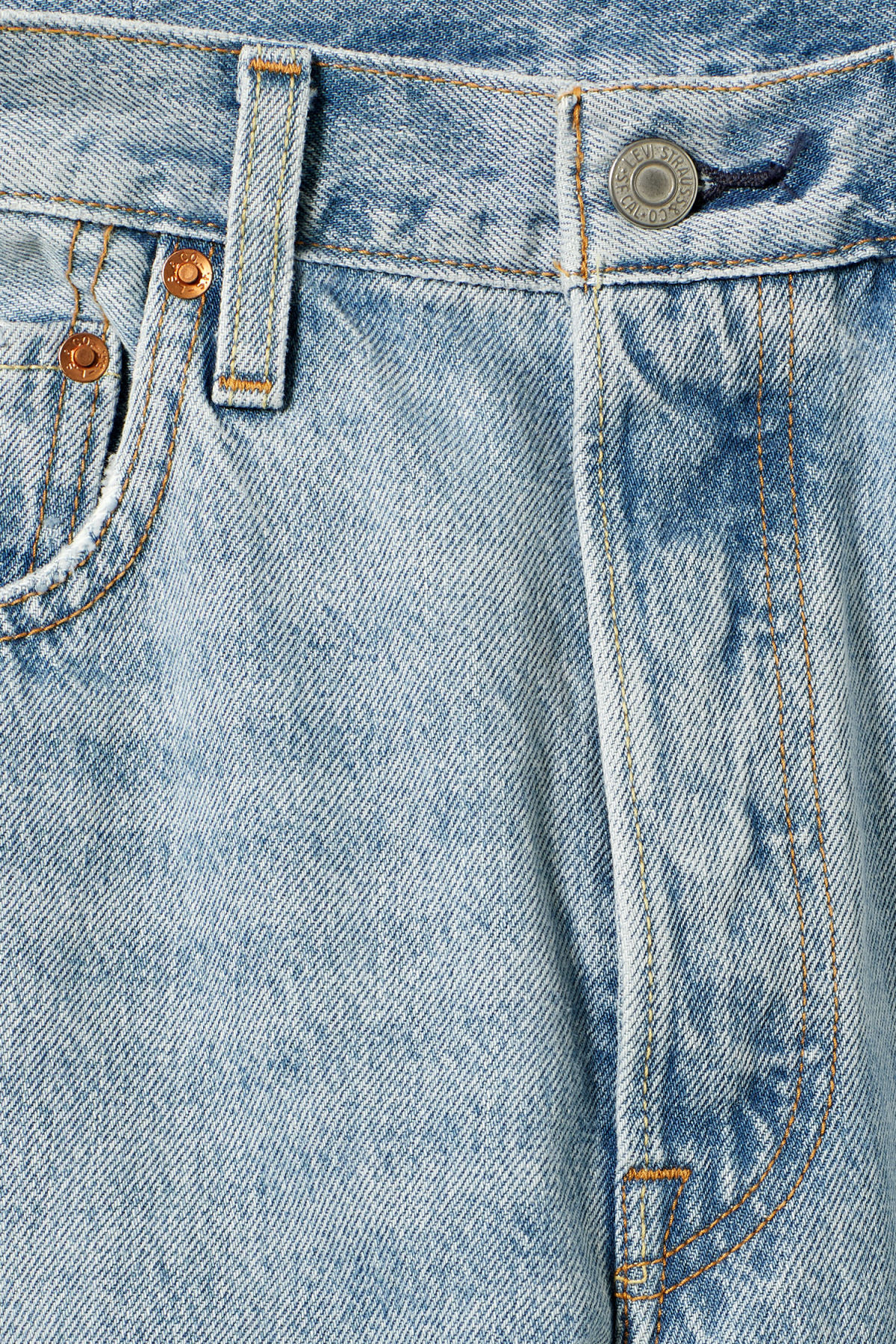 Detailed image of Weekday 501 skinny lovefool jeans in blue
