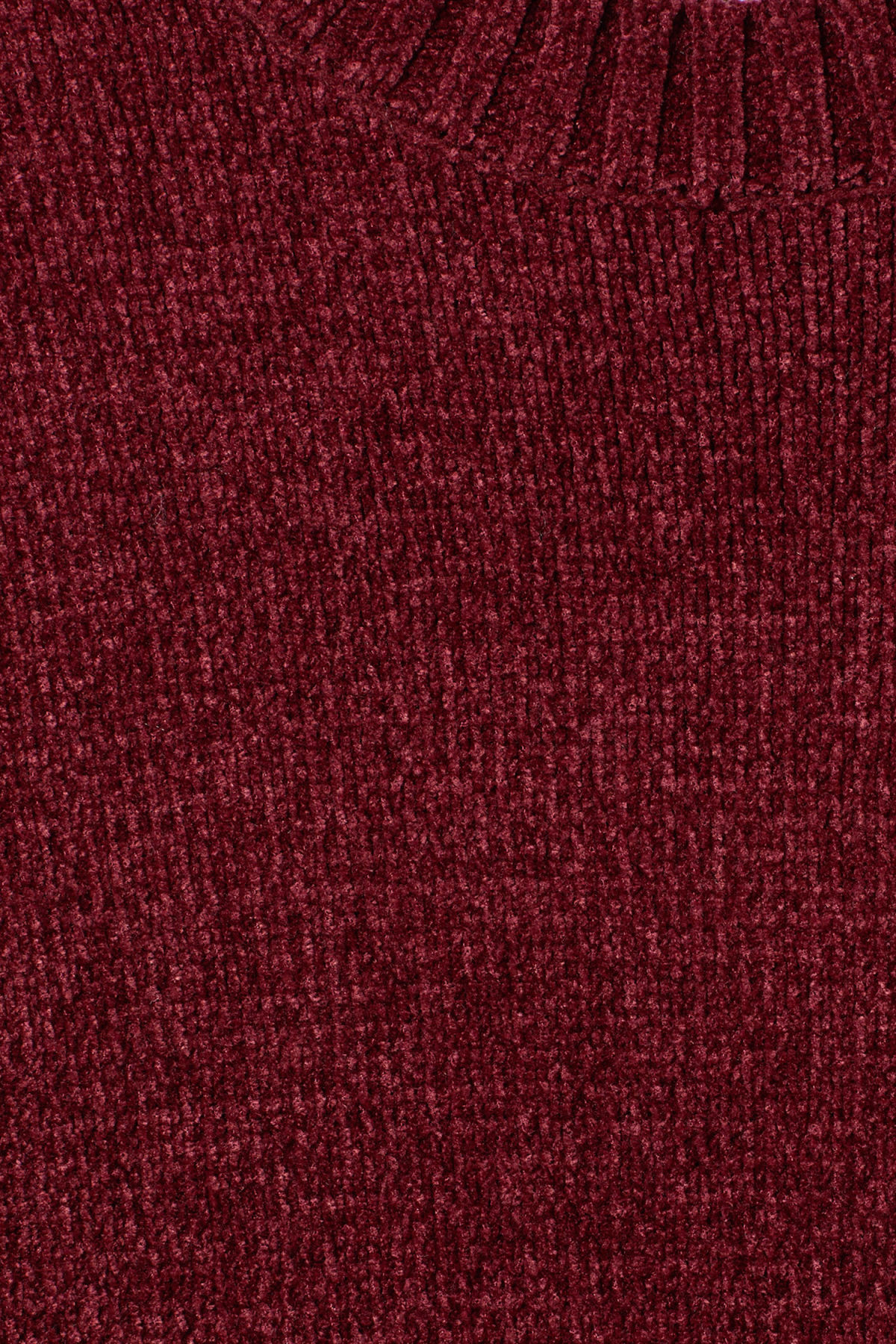 Detailed image of Weekday chenille sweater in red