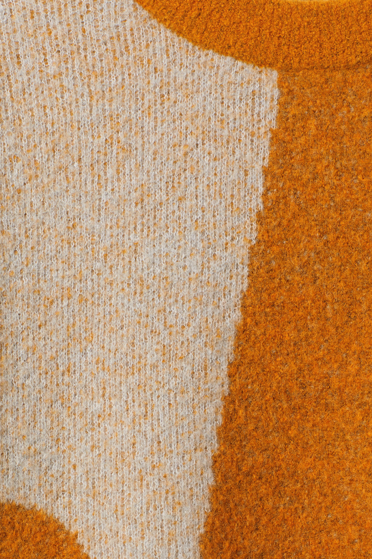 Detailed image of Weekday cloe jacquard sweater in orange