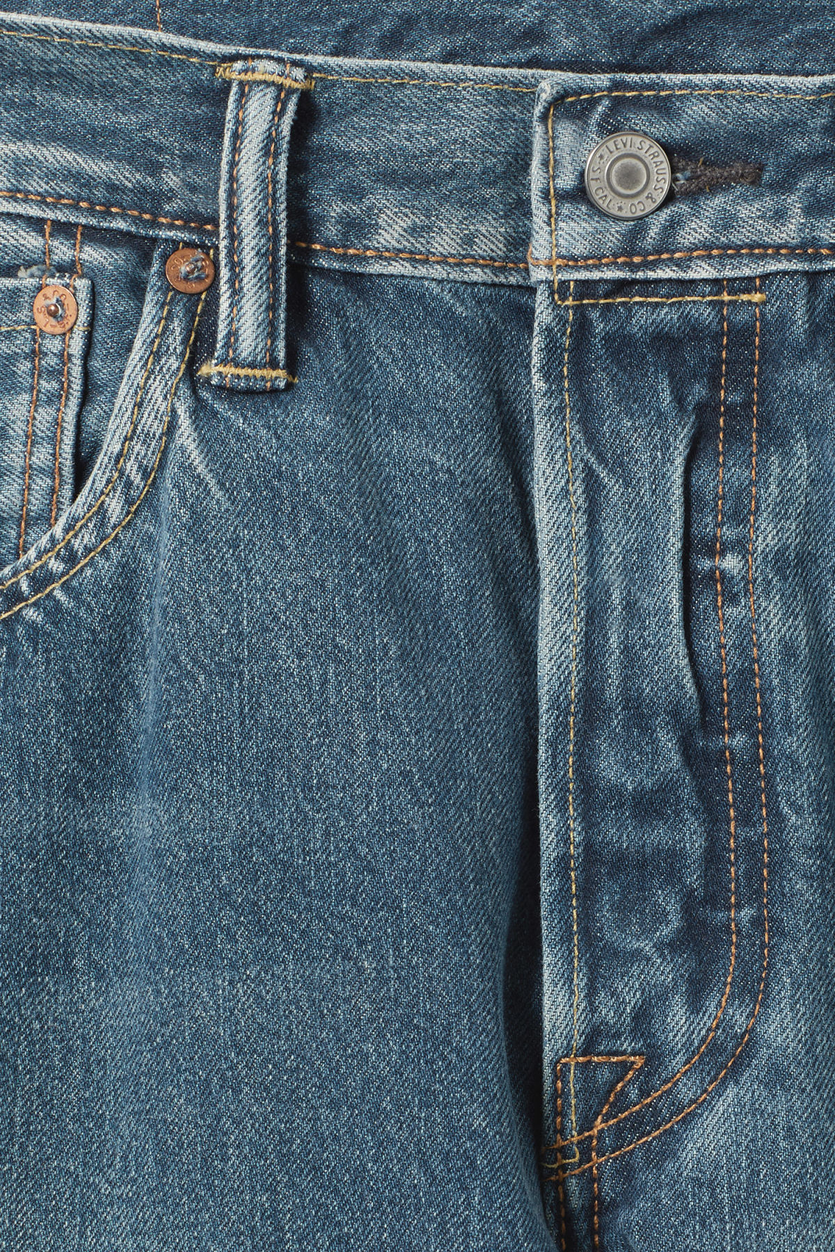Detailed image of Weekday 501 original electric ave jeans in blue