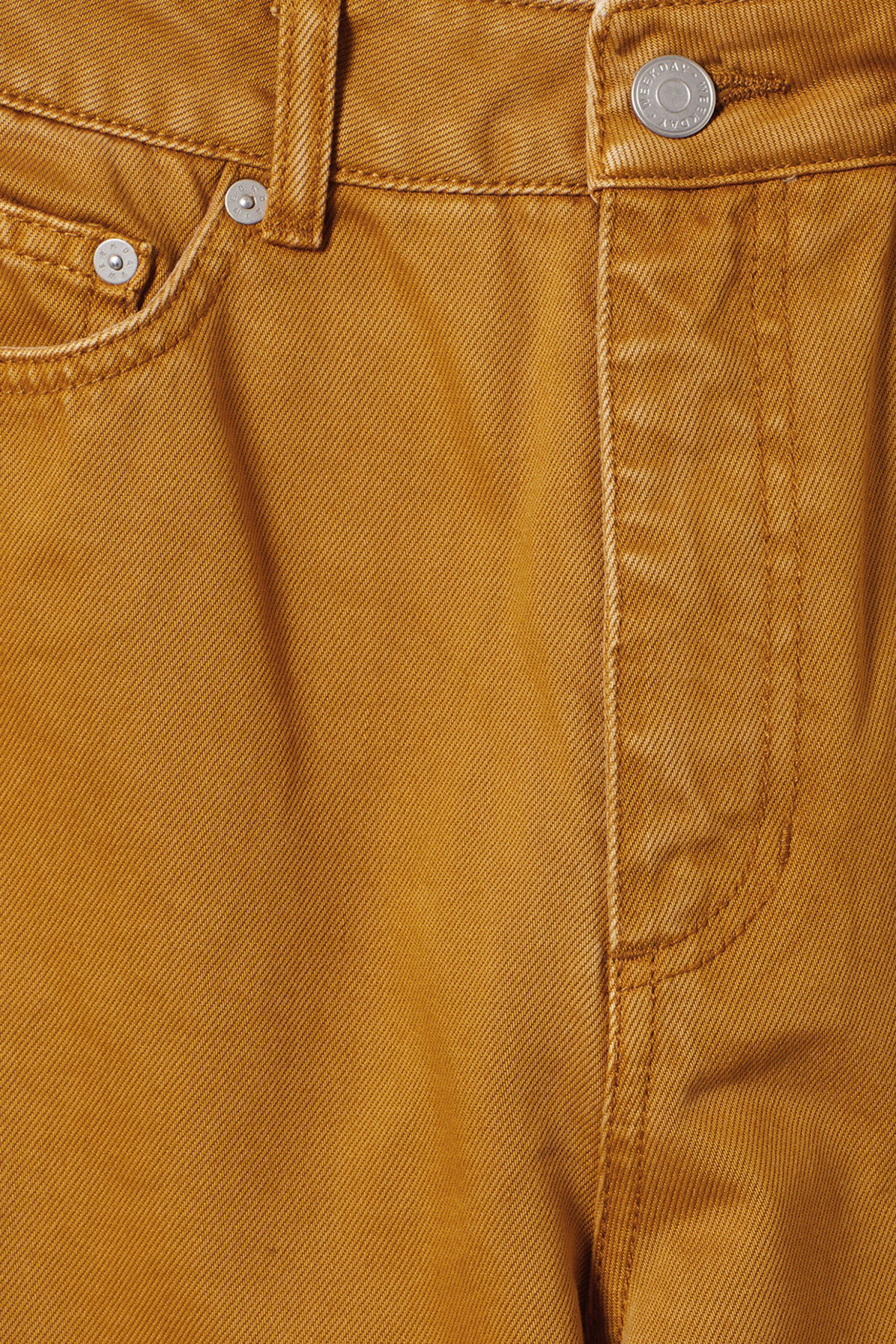 Detailed image of Weekday veer occra jeans in yellow