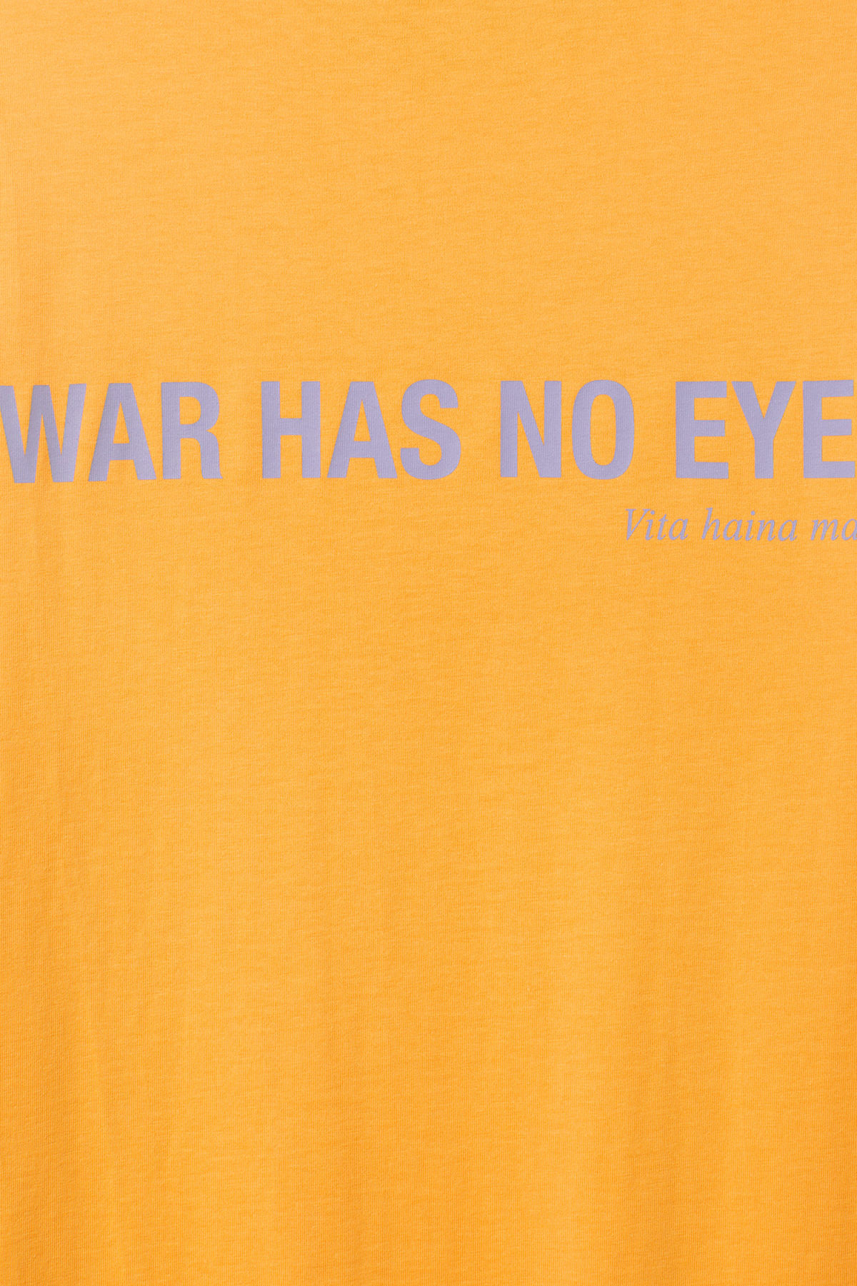 Detailed image of Weekday frank proverb t-shirt in yellow