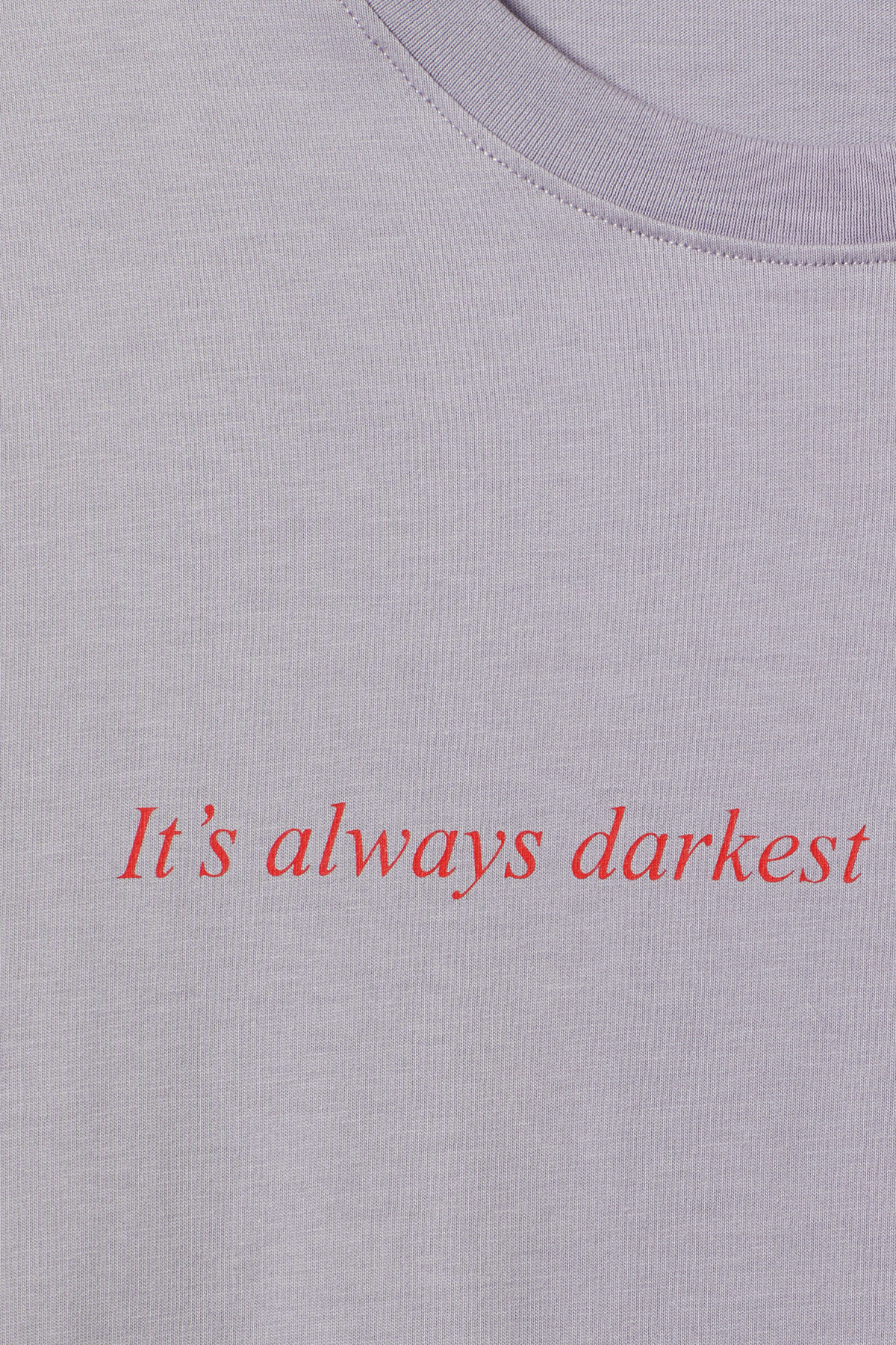 Detailed image of Weekday frank proverb t-shirt in pink