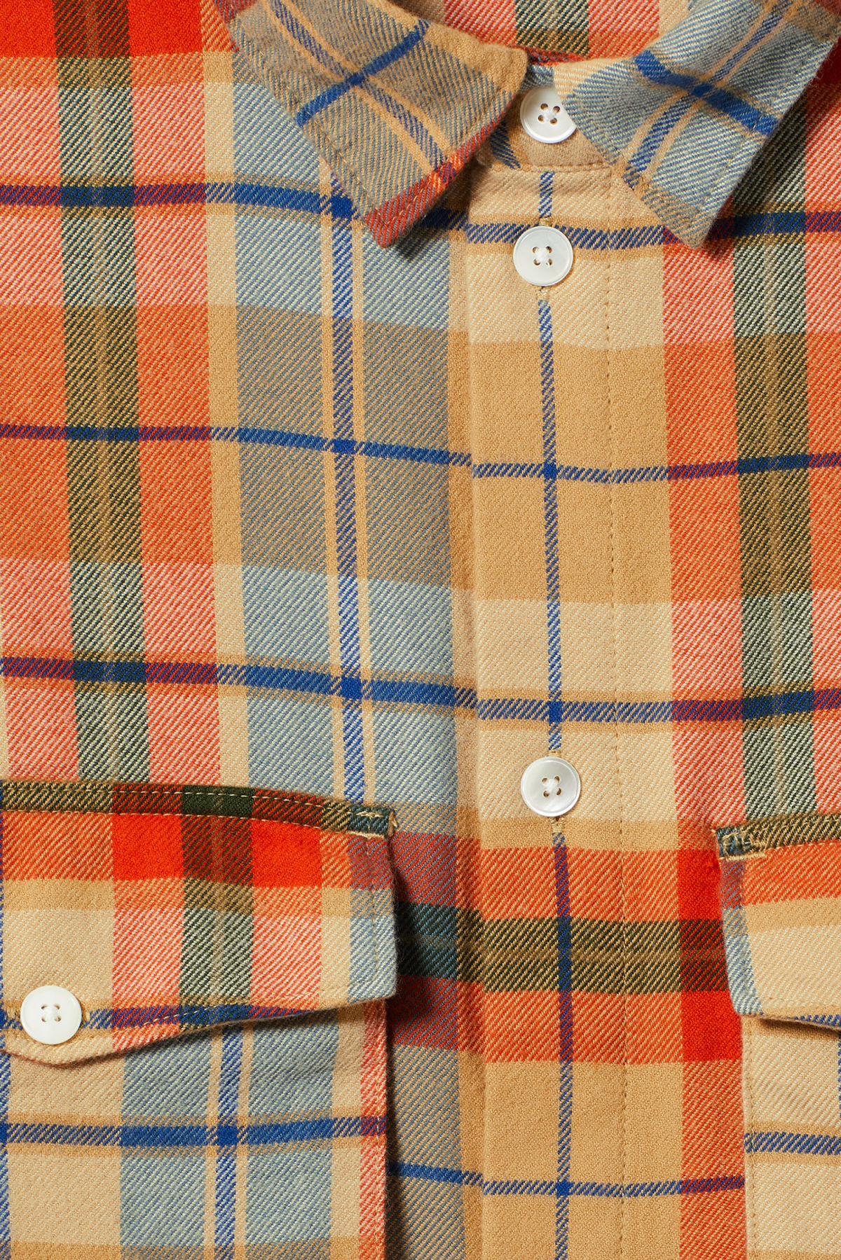 Detailed image of Weekday kula checked shirt in beige