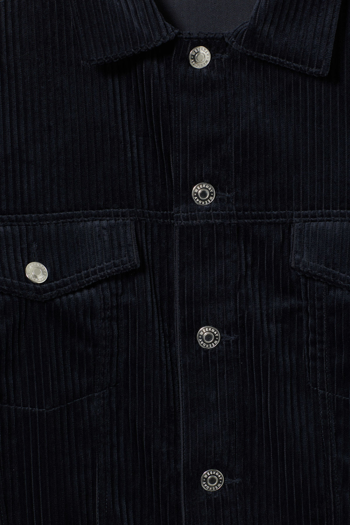 Detailed image of Weekday tempera cord jacket in blue