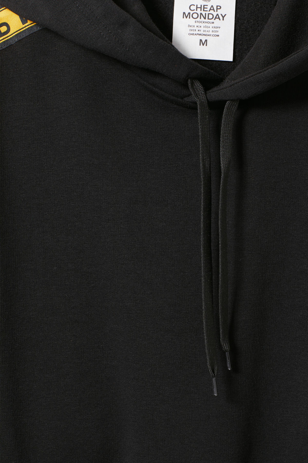 Detailed image of Weekday goal logo hoodie in black