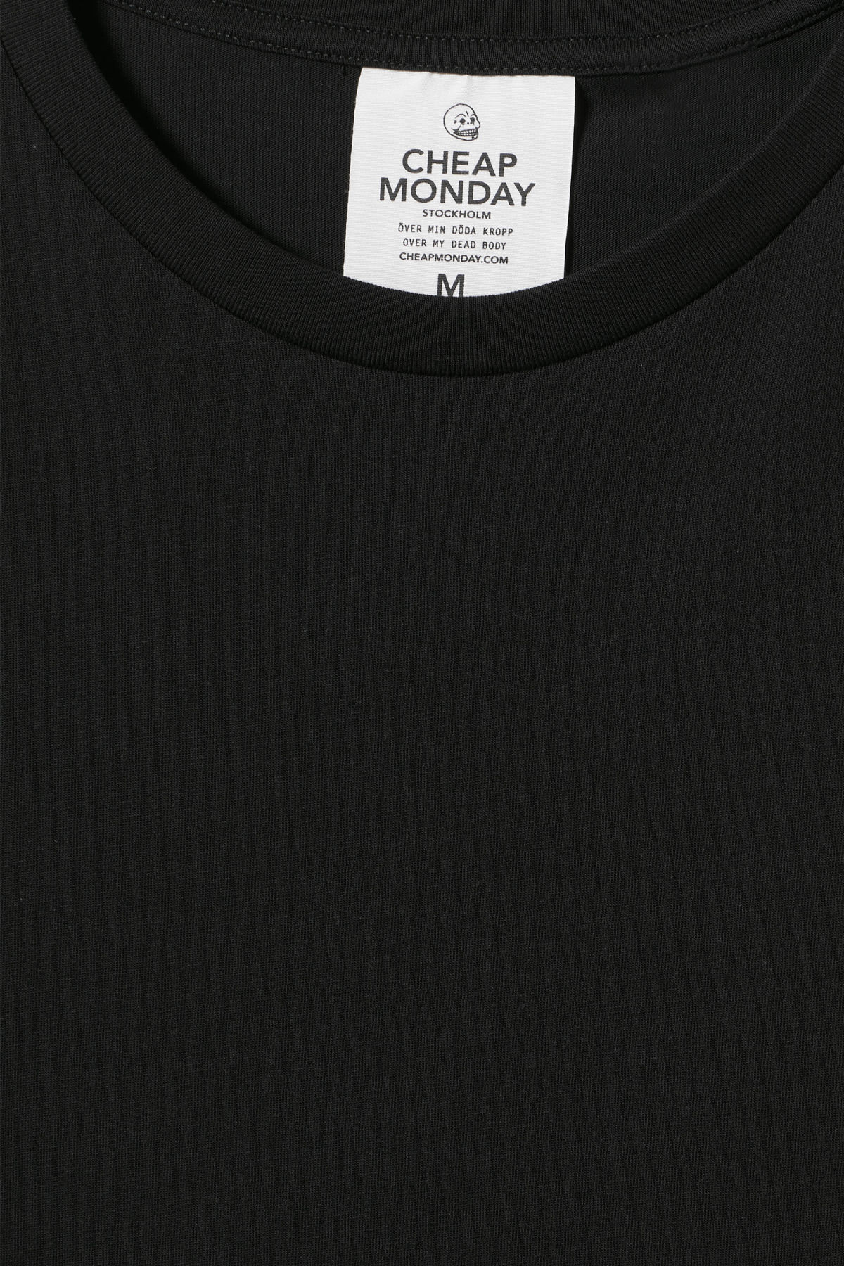 Detailed image of Weekday standard tiny skull t-shirt  in black